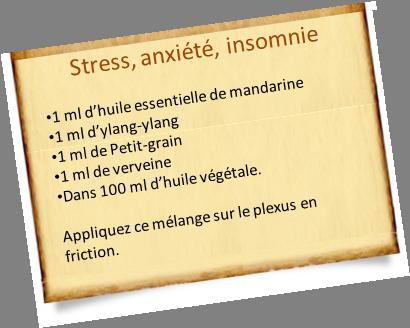 huiles essentielles, anxiété