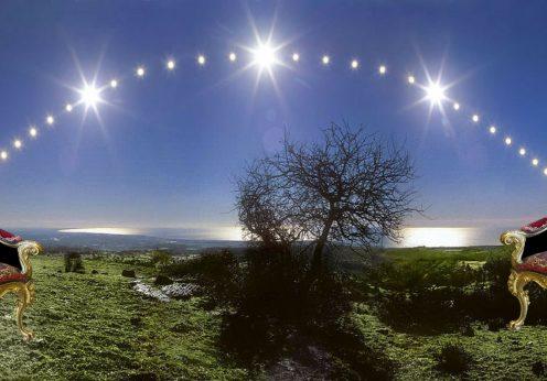 entre l'équinoxe et le solstice
