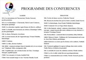 Programme et horaires des conférences pour le salon Terre et Conscience les 4 et 5 octobre 2014 à Salies-de-Béarn