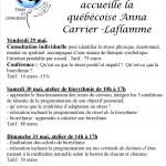 Conférence et atelier avec Anna Carrier-Laflamme : gestion du stress et biorythmie