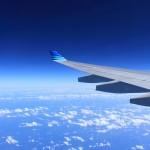Dans l'avion de Johannesburg