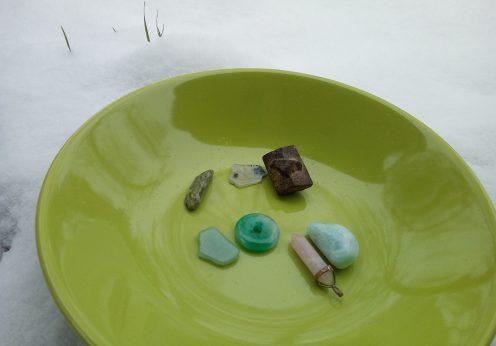 pierres, nettoyage, purification