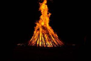 solstice, énergie, feu, juin