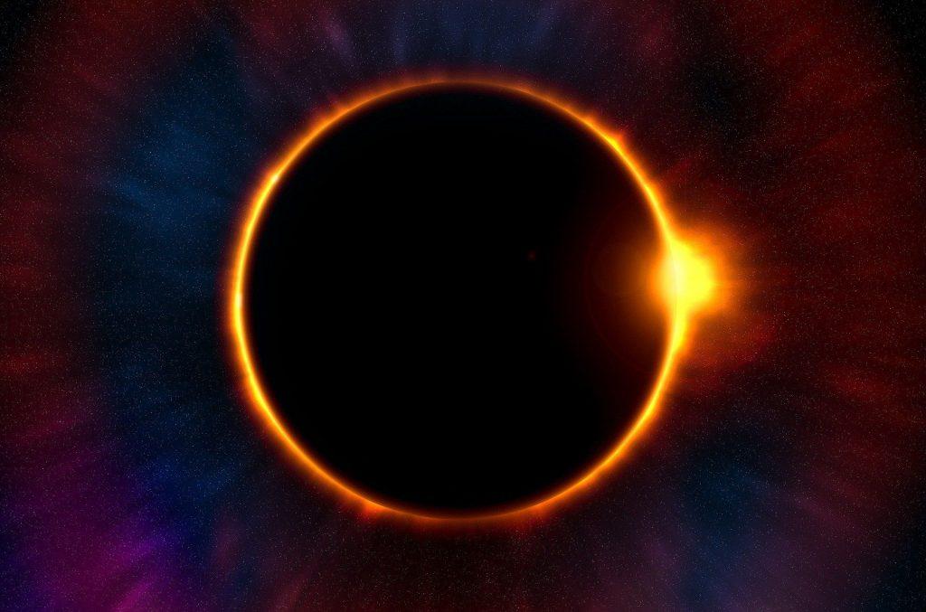 éclipse annulaire, nouvelle lune et éclipse annulaire